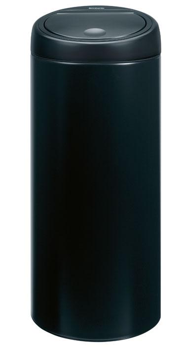 Бак мусорный Brabantia Touch Bin, цвет: матовый черный, 30 л391743Стильный Touch Bin на 30 литров – непременный атрибут каждой гостиной или кухни. Порадуйте себя и удивите гостей! Бесшумное открывание/закрывание крышки легким касанием – система soft touch; Удобная смена мешков для мусора – съемный блок крышки из нержавеющей стали; Удобная очистка – съемное внутреннее ведро из пластика с вентиляционными отверстиями, предотвращающими образование вакуума при вынимании полного мусорного мешка; Легкое перемещение с места на место – прочная ручка для переноски; Предохранение пола от повреждений – пластиковый защитный обод; Бак изготовлен из коррозионно-стойких материалов – долговечность и удобство в очистке; Всегда опрятный вид – идеально подходящие по размеру мешки для мусора с завязками (размер C); 10-летняя гарантия Brabantia. Цвет: матовый черный