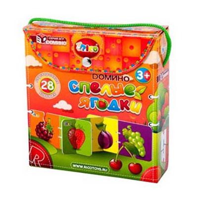 Развивающая игра Спелые ягодки11-002Развивающая игра Спелые ягодки поможет научить малыша замечать сходства и различия, строить логические цепочки и быть внимательным. Игра состоит из 28 двусторонних карточек с изображением семи ягод: абрикоса, малины, клубники, вишни, сливы, винограда и смородины. Малышу предстоит подбирать карточки с изображением одинаковых ягод, строя при этом длинный и объемный лабиринт с красочными картинками с четырех сторон.
