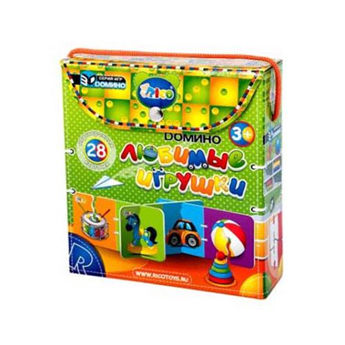 Развивающая игра Любимые игрушки. 11-00111-001Развивающая игра Любимые игрушки поможет научить малыша замечать сходства и различия, строить логические цепочки и быть внимательным. Игра состоит из 28 двусторонних карточек с изображениями семи предметов: ведерка с совочком, барабана, пирамиды, машины, мячика, юлы и лошадки-качалки. Малышу предстоит подбирать карточки с одинаковыми персонажами или предметами, строя при этом длинный и объемный лабиринт с красочными картинками с четырех сторон.