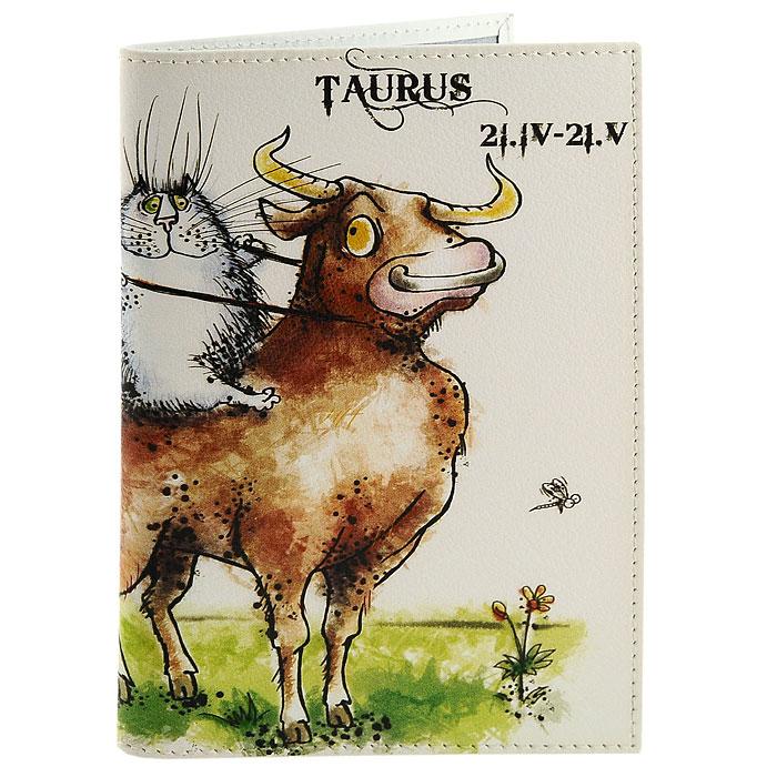 Обложка для паспорта Perfecto Taurus. PS-ZDCT-02PS-ZDCT-02Обложка для паспорта Телец, выполненная из натуральной кожи, оформлена оригинальным изображением забавного кота, символизирующего знак зодиака - телец. Такая обложка не только поможет сохранить внешний вид ваших документов и защитит их от повреждений, но и станет стильным аксессуаром, идеально подходящим вашему образу. Обложка для паспорта стильного дизайна может быть достойным и оригинальным подарком. Характеристики: Материал: натуральная кожа, пластик. Размер (в сложенном виде): 9,5 см x 13,5 см. Производитель: Россия. Артикул: PS-ZDCT-02.