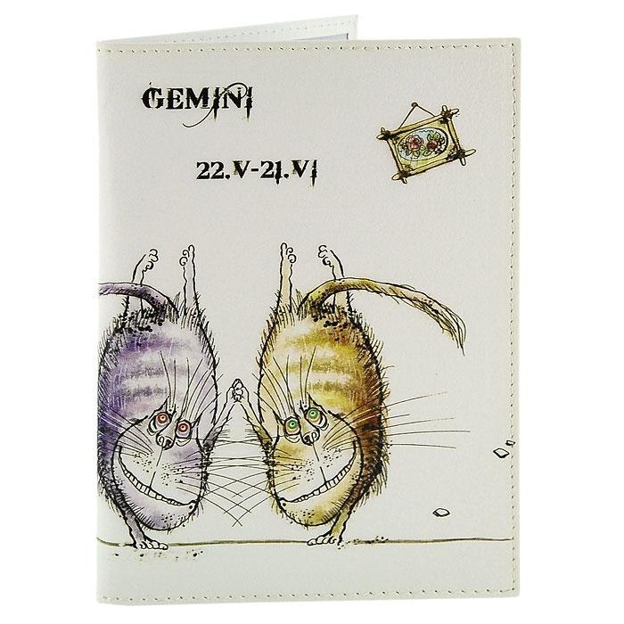 Обложка для паспорта Perfecto Gemini. PS-ZDCT-03PS-ZDCT-03Обложка для паспорта Близнецы, выполненная из натуральной кожи, оформлена оригинальным изображением забавных котов символизирующих знак зодиака - близнецы. Такая обложка не только поможет сохранить внешний вид ваших документов и защитит их от повреждений, но и станет стильным аксессуаром, идеально подходящим вашему образу. Обложка для паспорта стильного дизайна может быть достойным и оригинальным подарком. Характеристики: Материал: натуральная кожа, пластик. Размер (в сложенном виде): 9,5 см x 13,5 см. Производитель: Россия. Артикул: PS-ZDCT-03.