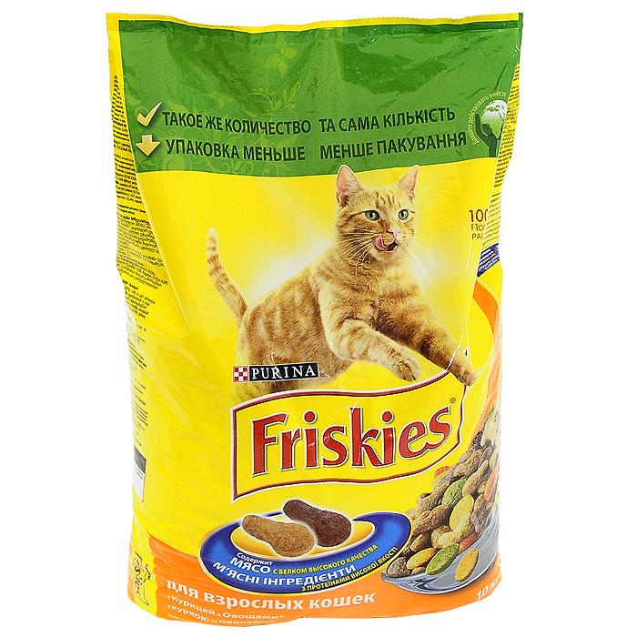 Корм сухой для кошек Friskies, с курицей и овощами, 10 кг2491Хрустящие крокеты Friskies приготовлены из тщательно отобранных ингредиентов для того, чтобы ваша кошка получала с едой только лучшее. Корм Friskies содержит белок высокого качества, витамины, минеральные вещества, а также другие вкусные и полезные ингредиенты. Корм является полнорационным сбалансированным питанием на каждый день, который дает вашей кошке все необходимое для здоровой и полной энергии жизни. Особенности сухого корма Friskies: белок высокого качества для поддержания естественной защиты организма, тонуса мускулатуры, а также сердца. Для хорошей усвояемости: сбалансированное сочетание необходимых минеральных веществ для крепких костей и зубов, а также для поддержания здоровой мочевыделительной системы; витамины для поддержания здоровья кошки; содержит качественные ингредиенты для великолепного вкуса. Состав: злаки (20%), мясо и субпродукты (4% курицы в коричневых и светло-коричневых крокетах), продукты переработки...