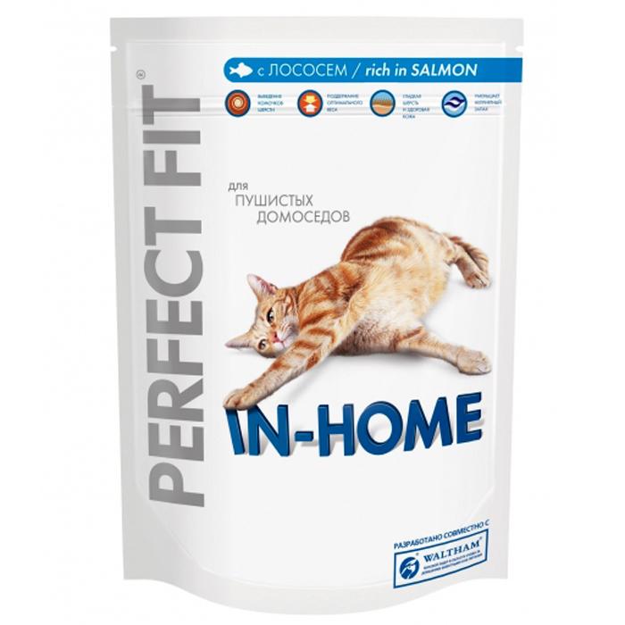 "Корм сухой ""Perfect Fit"" для домашних кошек, с лососем"