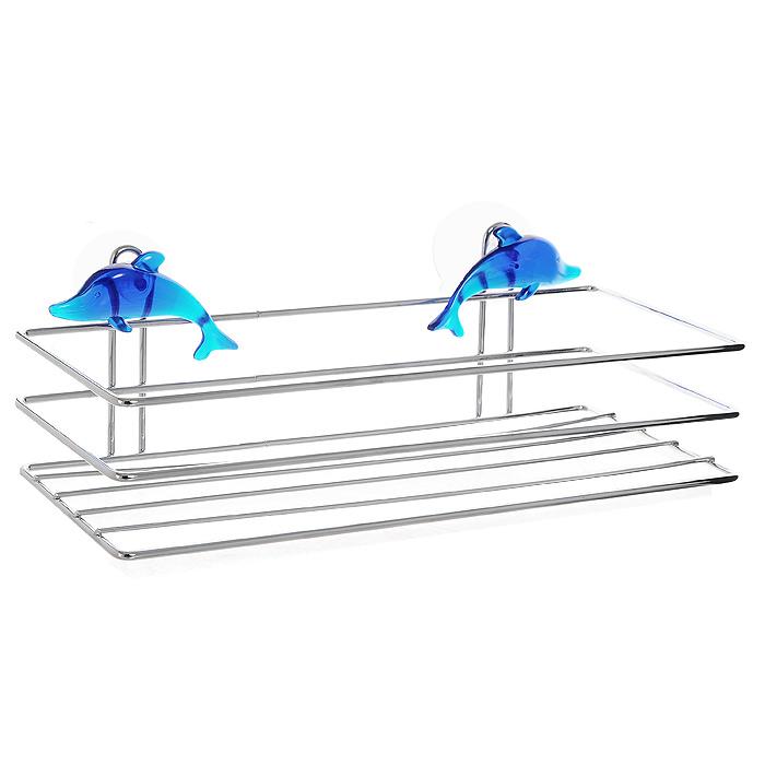 Полка настенная Luminello Дельфин MB-54MB-54Настенная полка Дельфин, выполненная из высококачественного хромированного металла, пригодится и на кухне и в ванной комнате. На эту полку вы сможете положить мыло и другие принадлежности ванной комнаты или кухни. Благодаря компактным размерам полка впишется в интерьер вашего дома и позволит вам удобно и практично хранить предметы домашнего обихода. Оригинальный дизайн изделия, несомненно, украсит ваш интерьер. Полка легко и надежно крепится к стене при помощи двух присосок.