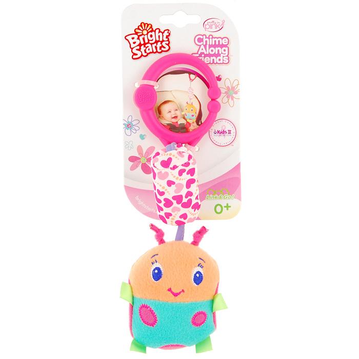 Bright Starts развивающая игрушка Звонкий дружок: Божья коровка8674-4Развивающая игрушка Звонкий дружок: Божья коровка понравится вашему ребенку и станет для него любимой игрушкой. Интересная мягкая игрушка выполнена в виде забавной букашки с шуршащими крылышками на звенящей подвеске с пластиковым кольцом. Кольцо - раздвижное, поэтому игрушку можно прикрепить к кроватке, коляске, стульчику или в любое другое удобное место. Развивающая игрушка Звонкий дружок: Божья коровка способствует развитию цветовосприятия и звуковосприятия. Характеристики: Рекомендуемый возраст: от 0 месяцев. Размер игрушки (без учета подвески и кольца): 7,5 см х 11 см х 4 см. Материал: пластик, текстиль. Изготовитель: Китай