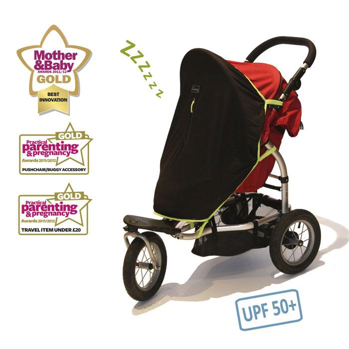 Универсальная защитная шторка для детских колясок  SnoozeShade Классик3000500016Сохранять режим сна малыша даже вдали от дома поможет использование универсальной защитной шторки для колясок SnoozeShade. Шторки SnoozeShade являются простой и безопасной альтернативой завешиванию коляски одеждой или одеялом во время детского сна. Это часто бывает нужно на прогулке, на празднике, в гостях или во время поездки. Основные характеристики: Защитная шторка сохраняет сон ребенка во время поездок и прогулок. Шторка подойдет для колясок всех распространенных моделей: классической, коляски-трансформера, прогулочной и коляски-трости. Она подойдет для двух- и трехместной коляски с капюшоном, если каждый ребенок в ней имеет свой отдельный капюшон, а также для коляски-тандема, где одно место расположено сзади другого. Создаст уютный полумрак для сна, задерживая 94 % света (защита от ультрафиолета, UPF 50+). Шторка защитят ребенка от легкого дождя, снега, ветра, пыли и насекомых. Укроет новорожденного от нескромных...
