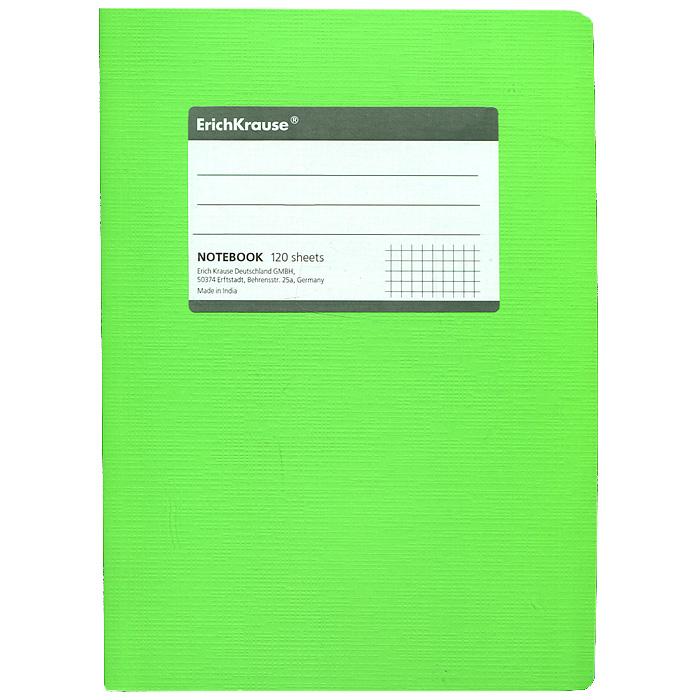 Тетрадь Fluor, цвет: салатовый, 120 листов, А531479Тетрадь Fluor в клетку из белой офсетной бумаги послужит прекрасным местом для различных записей. Обложка тетради выполнена из тонкого картона с покрытием. Такая тетрадь подойдет как школьнику, так и студенту. Характеристики: Размер тетради: 14,5 см х 20,5 см х 1,1 см. Формат: А5. Количество листов: 120. Материал: картон, бумага. Изготовитель: Индия.