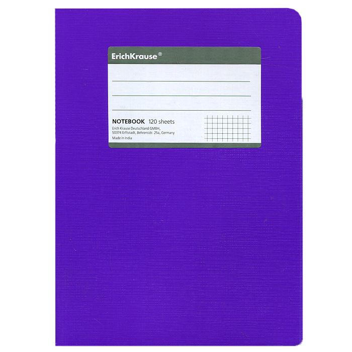 Тетрадь Fluor, цвет: фиолетовый, 120 листов, А527957Тетрадь Fluor в клетку из белой офсетной бумаги послужит прекрасным местом для различных записей. Обложка тетради выполнена из тонкого картона с покрытием. Такая тетрадь подойдет как школьнику, так и студенту. Характеристики: Размер тетради: 14,5 см х 20,5 см х 1,1 см. Формат: А5. Количество листов: 120. Материал: картон, бумага. Изготовитель: Индия.