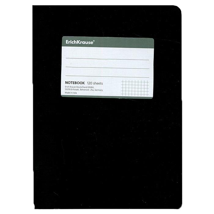 Тетрадь One Color, цвет: черный, 120 листов, А527950Тетрадь One Color в клетку из белой офсетной бумаги послужит прекрасным местом для различных записей. Обложка тетради выполнена из тонкого картона с покрытием. Такая тетрадь подойдет как школьнику, так и студенту. Характеристики: Размер тетради: 14,5 см х 20,5 см х 1,1 см. Формат: А5. Количество листов: 120. Материал: картон, бумага. Изготовитель: Индия.