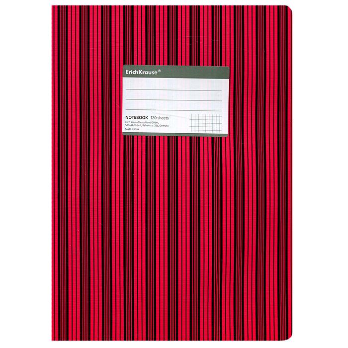 "Тетрадь ""Two Colors"", цвет: черный, красный, 120 листов, А4, Erich Krause"