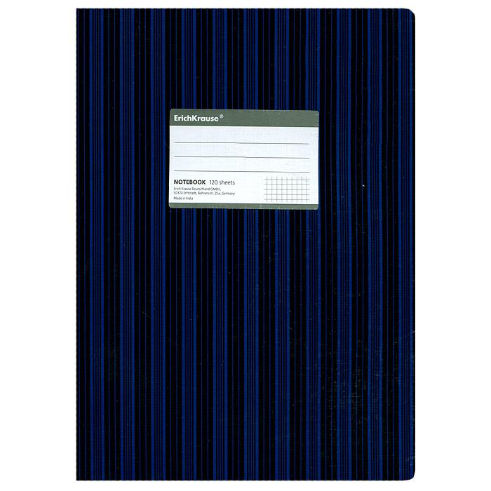 Тетрадь Two Colors, цвет: черный, синий, 120 листов, А427978Тетрадь Two Colors в клетку из белой офсетной бумаги послужит прекрасным местом для различных записей. Обложка тетради выполнена из тонкого картона с покрытием. Такая тетрадь подойдет как школьнику, так и студенту. Характеристики: Размер тетради: 20,5 см х 29 см х 1,1 см. Формат: А4. Количество листов: 120. Материал: картон, бумага. Изготовитель: Индия.