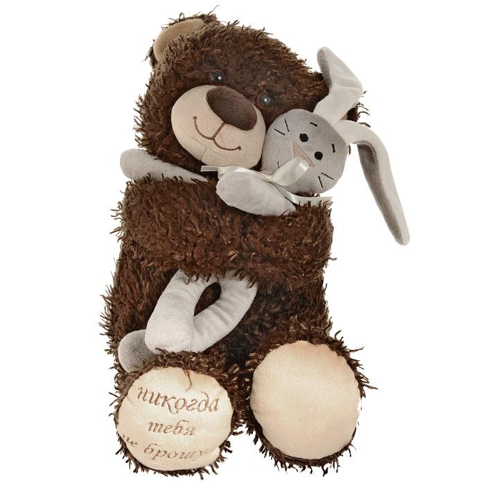 """Fancy Мягкая игрушка """"Медвежонок Чиба с зайцем"""", 29 см"""