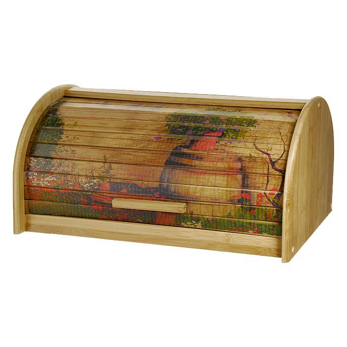 Хлебница Amadeus 32HS-500532HS-5005Хлебница Amadeus позволит сохранить ваш хлеб свежим и вкусным. Выполнена в классическом дизайне из бамбука. Хлебница снабжена дверцей в виде шторки-жалюзи, декорированной рисунком. Эксклюзивный дизайн, эстетика и функциональность хлебницы делают ее превосходным аксессуаром на вашей кухне. Характеристики: Материал: бамбук. Размер (Д х Ш х В): 24 см х 39 см х 19 см. Производитель: Германия. Артикул: 32HS-5005.