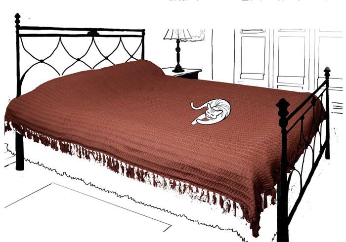 Покрывало Кантри. British Style, 200 х 240 см, цвет: шоколад