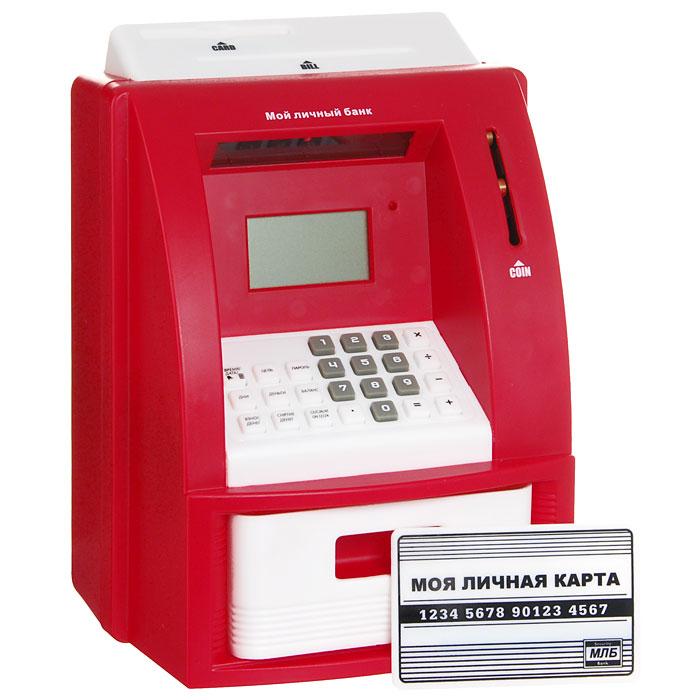 Копилка электронная Банкомат, цвет: красный91911Электронная копилка Банкомат, несомненно, привлечет ваше внимание. Копилка выполнена в виде банкомата, оснащенного жидкокристаллическим дисплеем, клавиатурой, слотом для пластиковой карты, слотом для купюр и отделением для монет. Копилка автоматически распознает монеты, принимает и выдает деньги, автоматически выдает текущий баланс. Кроме того, копилка имеет ряд дополнительных функций: калькулятор, часы с будильником, также можно задать функцию накопления и настроить персональный секретный код доступа. В комплект с копилкой входят пластиковая карта и инструкция на русском языке. Такая многофункциональная копилка станет полезным и необычным подарком для друзей или коллег! ВНИМАНИЕ!!! КОД ЗАЩИТЫ УСТАНОВЛЕННЫЙ В ЗАВОДСКИХ НАСТРОЙКАХ: [0000] (четыре нуля). Для сброса настроек к заводским нажмите RESET с тыльной стороны банкомата. Характеристики: Материал: пластик, металл. Цвет: красный. Размер копилки: 16 см х 21,5 см х 14 см. Размер...