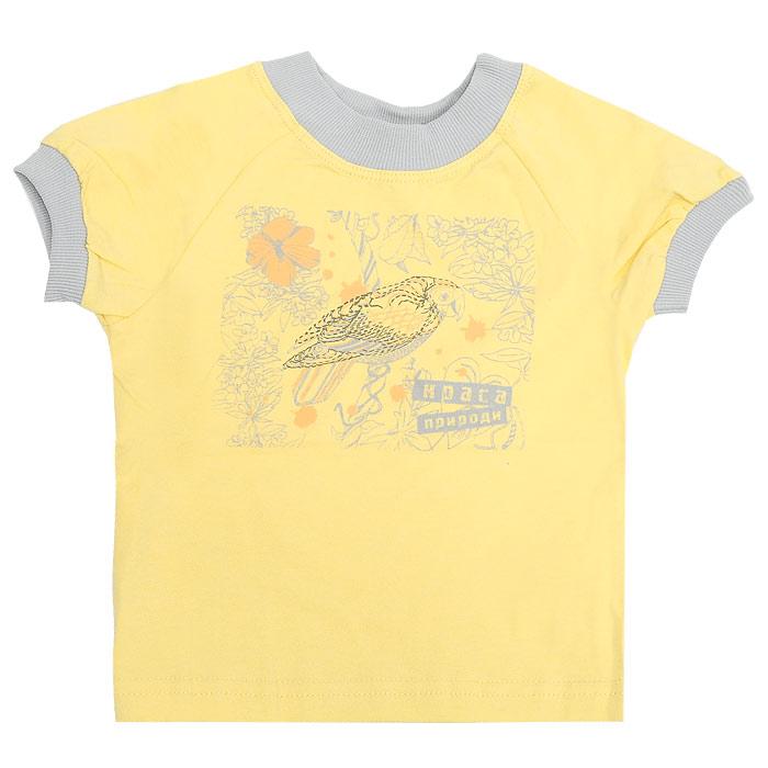 """Футболка для девочки """"Бемби"""", цвет: желтый. Рост 92 см"""