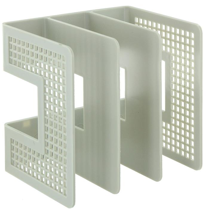 Подставка для бумаг вертикальная, цвет: серый