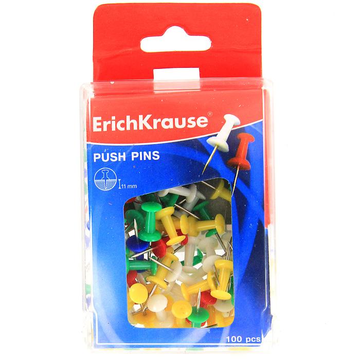Кнопки канцелярские Erich Krause, силовые, 100 шт19749Силовые канцелярские кнопки-гвоздики Erich Krause - универсальный офисный инструмент. Кнопки изготовлены из высококачественного металла с цветными пластиковыми шляпками. Кнопки с легкостью входят в твердые поверхности. Цветные канцелярские кнопки-гвоздики Erich Krause разбавят строгую офисную обстановку яркими цветами и поднимут настроение. Характеристики: Материал: пластик, металл. Длина кнопки: 2,5 см. Количество: 100 шт. Размер упаковки: 9 см х 6,5 см х 3 см. Изготовитель: Китай. Бренд Erich Krause - это полный ассортимент канцтоваров для офиса и школы, который гарантирует безукоризненное исполнение разных задач в процессе работы или учебы, органично и естественно сопровождает вас день за днем. Для миллионов покупателей во всем мире продукция Erich Krause стала верным и надежным союзником в реализации любых проектов и самых амбициозных планов. Высококвалифицированные...