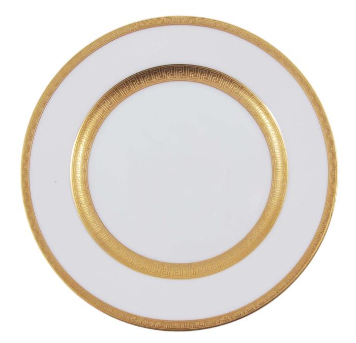 Десертная тарелка Агафон. Фарфор, золочение. Япония, Фаберже, конец XX века
