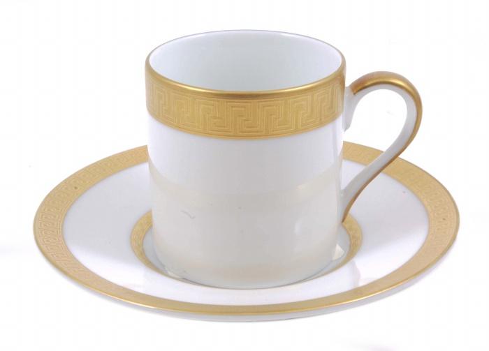 Кофейная пара Агафон. Фарфор, золочение. Япония, Фаберже, конец XX века