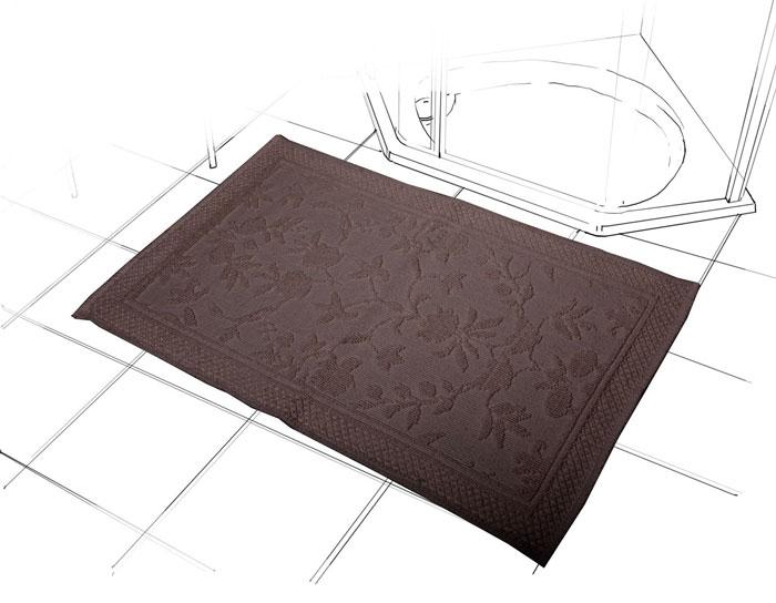 Коврик Кармен, цвет: шоколад, 60 см х 90 см1207.1Коврик Кармен красивого шоколадного цвета с рельефным рисунком, выполнен из высококачественного хлопкового волокна. Высочайшее качество материала гарантирует безопасность для всех членов семьи. Характеристики: Материал: хлопок. Размер коврика: 60 см х 90 см. Цвет: шоколад. Производитель: Индия. Артикул: 1207.1.