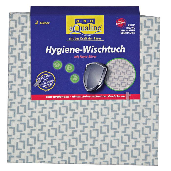 Салфетка гигиеническая Aqualine для уборки, с нано-серебром, 2 шт