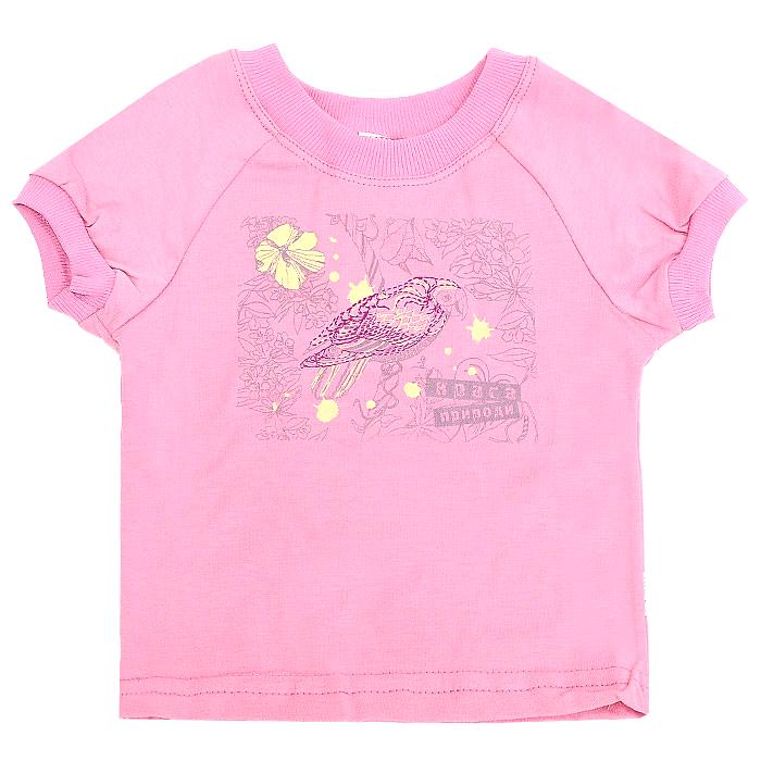 """Футболка для девочки """"Бемби"""", цвет: розовый. Рост 116 см"""