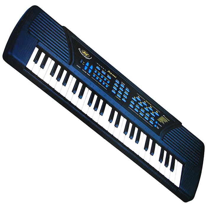 Синтезатор DoReMi, 49 клавиш, с микрофоном. D-00004D-00004Яркий синтезатор DoReMi привлечет внимание малыша и доставит ему много удовольствия от часов, посвященных игре с ним. Синтезатор имеет 49 музыкальных клавиш и множество кнопок, позволяющих добавлять различные звуковые эффекты при составлении мелодий, менять темп и ритм музыки: 10 темборов, 10 ритмов, 8 видов ударных, 25 уровней темпа, 8 уровней управления громкостью, 8 демо мелодий. На синтезаторе можно составить собственные мелодии, записать их и прослушать. С помощью этого синтезатора ребенок сможет развить свои музыкальные способности и порадовать друзей и близких великолепным концертом. Порадуйте его таким замечательным подарком! Синтезатор может работать от сетевого адаптера или от 6 батареек типа АА.