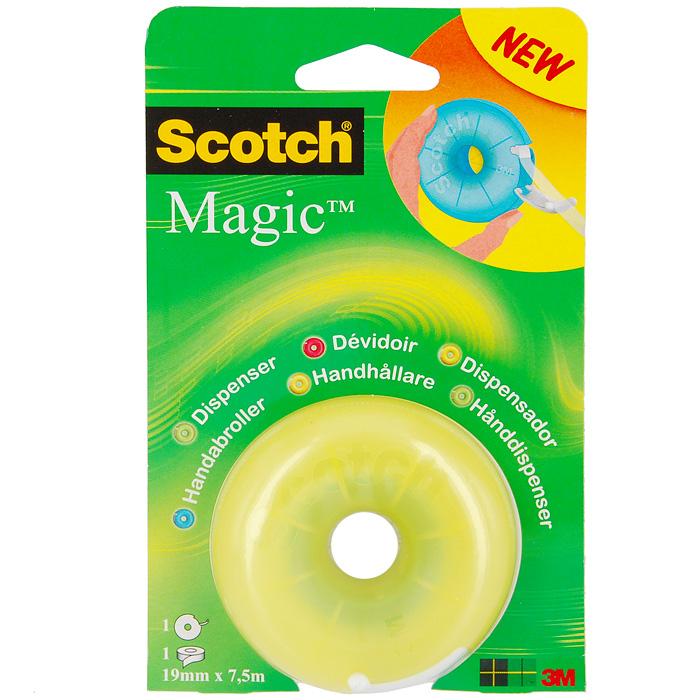 Диспенсер Scotch Magic, с клейкой лентой,в ассорт.810FDДиспенсер Scotch Magic с клейкой лентой станет незаменимым для склеивания поврежденных документов, упаковки коробок, пакетов и подарков. Благодаря пластиковому ножу, вы без труда оторвете клейкую ленту необходимого вам размера. Характеристики: Ширина ленты: 1,9 см. Длина ленты: 7,5 м. Размер диспенсера: 7 см х 7 см х 3 см. Размер упаковки: 10,5 см х 17 см х 3 см.