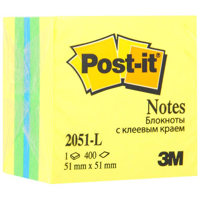 "Бумага для заметок Post-it ""Мини куб"" с липким слоем, 5,1 см х 5,1 см. 2051-L"