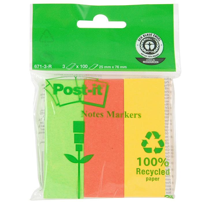 Закладки самоклеящиеся Post-it index, 300 шт671-3Бумажные самоклеящиюся закладки Post-it index помогут отметить важную информацию или быстро найти необходимый документ. Клеевой слой не высыхает и выдерживает многократное приклеивание. В комплекте 300 закладок зеленого, оранжевого и желтого цветов.