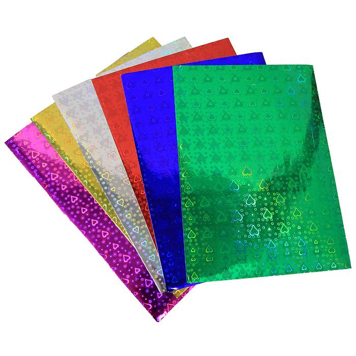 Цветная голографическая бумага Fancy, 6 цветовFD010021Набор цветной самоклеящейся голографической бумаги Fancy прекрасно подходит для изготовления эксклюзивных подарков, открыток и многого другого. Детали, вырезанные из такой бумаги, эффектно смотрятся на открытках, аппликациях и других всевозможных поделках. В набор входит бумага синего, зеленого, желтого, серебристого, розового и красного цветов. Работа с набором развивает мелкую моторику, усидчивость и формирует художественный вкус. Характеристики: Формат: A4.