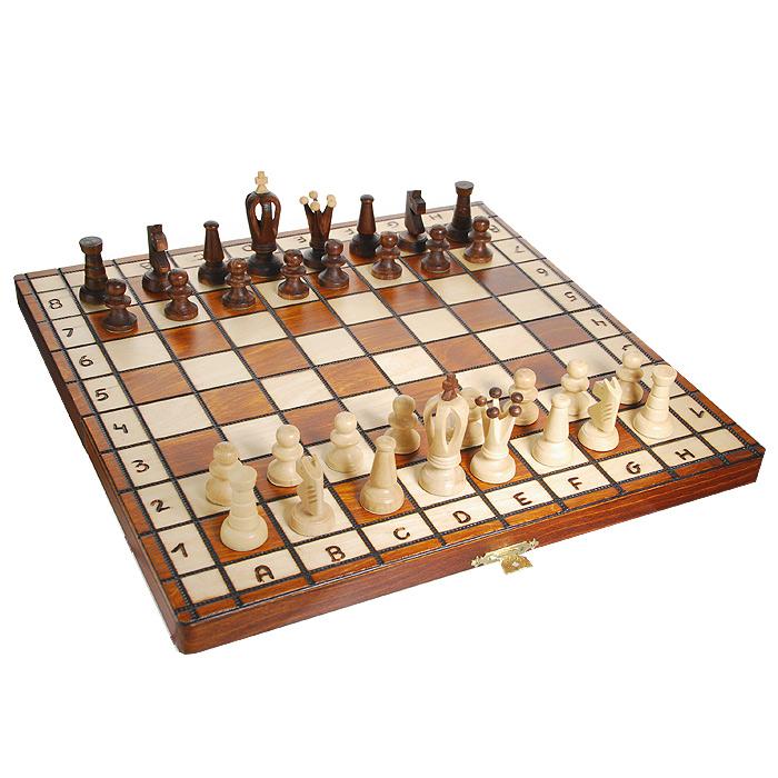 Шахматы Wegiel King 36, размер: 36х18 х4 см. 30293029Шахматы Kings 36 выполнены из дерева и вложены в изысканную деревянную шкатулку. Крышка шкатулки представляет собой шахматную доску. Границы сетки игрового поля, буквы и цифры подчеркнуты методом выжигания. Шахматы - одна из древнейших игр, изобретенная в Индии три тысячи лет назад. Она позволяла разыгрывать сражения того времени, в которых принимали участие, как простые пешие воины, так и кавалерия, и боевые слоны.
