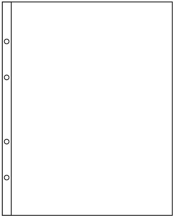 Лист для купюр или ценных бумаг (упаковка из 10 листов)