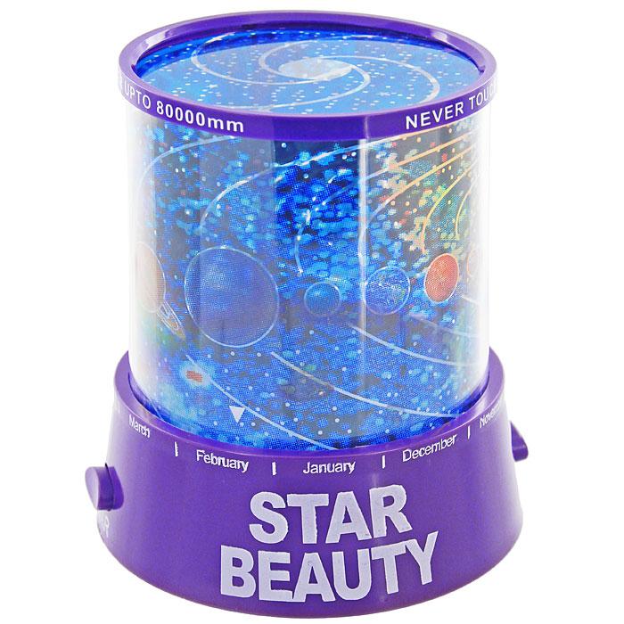 Ночник-проектор Планетарий, цвет: фиолетовый93330Ночник-проектор Планетарий - это удивительный прибор для создания ясного ночного неба прямо у вас в комнате. Ночник проецирует созвездия на стены и потолок помещения. Ночник оснащен светодиодами, которые постепенно меняют цвета своего свечения. Включив проектор, вы увидите, как на стенах и потолке вашей комнаты отражаются тысячи звезд, свечение которых постепенно изменяется! Максимальный эффект от ночника достигается в условиях полного затемнения. Источник света: - Лампочка (от карманного фонарика) - Три многоцветных светодиода. Источники света включаются отдельными кнопками (можно использовать как вместе, так и по отдельности). Характеристики: Цвет: фиолетовый. Материал: пластик. Размер ночника: 10,5 см х 11,5 см х 10,5 см. Размер упаковки: 11 см х 13 см х 11 см. Производитель: Китай. Артикул: 93330. Работает от 3 батареек АА 1.5V (не входят в комплект). Имеется вход для внешнего источника питания 4,5В (блок...