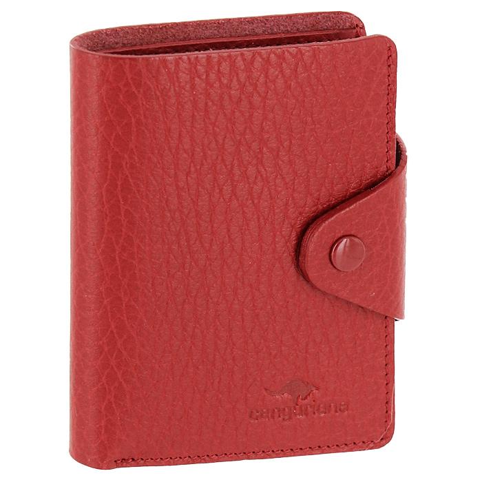 Визитница Cangurione, цвет: красный. 3303-006 F/Red3303-006 F/RedКомпактная визитница Cangurione - стильная вещь для хранения визиток. Визитница выполнена из натуральной кожи красного цвета с естественной лицевой поверхностью. Внутри находится отделение для купюр, блок из прозрачного пластика, рассчитанный на 18 визиток и 4 прорезных кармашка из кожи. Визитница закрывается клапаном на кнопку. Такая визитница станет замечательным подарком человеку, ценящему качественные и практичные вещи. Визитница упакована в коробку из плотного картона с логотипом фирмы.
