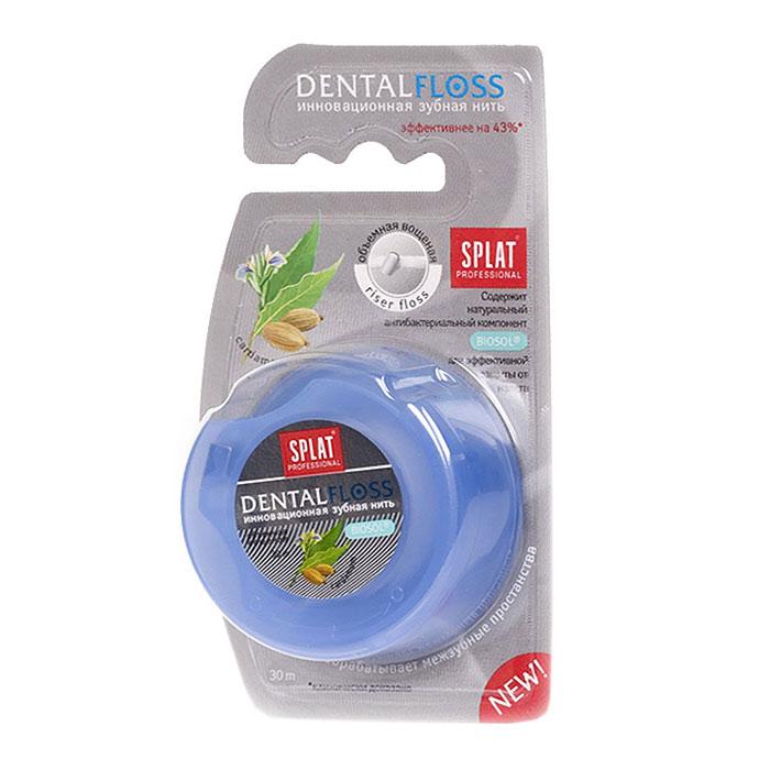Зубная нить Splat Dental Floss, с ароматом кардамонаФК-602Объемная вощеная зубная нить Splat Dental Floss с уникальной структурой (Riser Floss) при натяжении легко проникает в межзубные промежутки, бережно и эффективно очищает поверхность зубов, заботясь о здоровье десен. Антибактериальный компонент Biosol препятствует размножению бактерий. Использование нити помогает предотвратить кариес и заболевания десен, уменьшает образование налета на 69%, снижает кровоточивость десен на 50%. Характеристики: Длина нити: 30 м. Производитель: Италия. Товар сертифицирован.