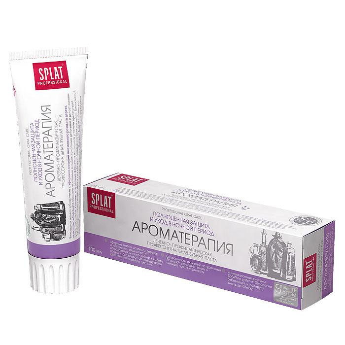 Зубная паста Splat Professional Aromatherapy/Ароматерапия, 100 млАР-118Уникальная гелевая зубная паста с эфирными маслами амазонского розового дерева, лавандина и бергамота обладает усиленным антибактериальным действием и способствует сохранению свежести утреннего дыхания. Паста максимально подходит для применения перед сном. Комплекс натуральных ферментов из ананаса и папайи препятствует образованию налета в течение ночи и способствует сохранению чистоты эмали. Компонент Polydon обеспечивает полирующий эффект, что препятствует фиксации бактерий на поверхности эмали. Сочетание эфирных масел, входящих в ее состав, обеспечивает релаксирующий и антистрессовый эффект и надолго защищает от бактерий. Экстракт фиалки заботится о здоровье десен. Биоактивный Кальцис укрепляет эмаль, снижая чувствительность зубов. Без фтора. Активные компоненты: Кальцис, Polydon, ксилит, экстракт черной икры, папаин, бромелайн, эфирное масло розового дерева, экстракт фиалки, эфирное масло лавандина, эфирное масло бергамота. ...