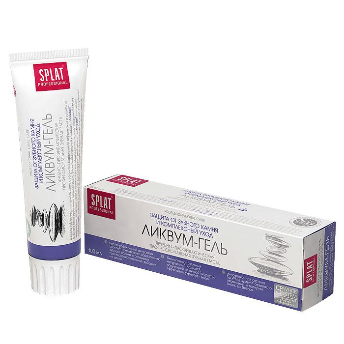 Зубная паста Splat Professional Likvum-Gel/Ликвум-гель, 100 млЛГ-119Гелевая зубная паста лазурного цвета с эффектом отбеливания и защиты от зубного камня. Действует благодаря высокому содержанию ферментов и высокоэффективной полирующей системе. Паста со сбалансированной чистящей системой Sp.White system предназначена для отбеливания эмали и очищения всей полости рта. Натуральные ферменты из папайи и высокомолекулярный компонент Polydon эффективно расщепляют налет и препятствуют его образованию, способствуя сохранению белизны зубов. Высокоэффективный антисептик Biosol оказывает противовоспалительное действие на десны и сдерживает рост патогенных бактерий. Натуральный фермент папаин препятствует образованию мягкого налета - основной причины возникновения кариеса. Биоактивный Кальцис, полученный из яичной скорлупы, укрепляет эмаль и снижает гиперчувствительность зубов. Без фтора. Активные компоненты: Polydon, Кальцис, Biosol, папаин, ксилит. Клинически доказано: Отбеливающий эффект - 1 тон за четыре...