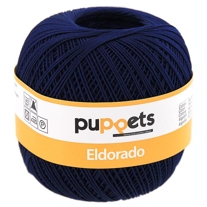 Пряжа для вязания Eldorado цвет: темно-синий, 50 г4574010 - 04289Пряжа для вязания Eldorado состоит из мерсеризированного хлопка. Мерсеризация - обработка пряжи крепким раствором щелочи (едкого натра) под напряжением. Этот метод был разработан в первой половине XIX века английским химиком Джоном Мерсером. После такой обработки хлопковые волокна приобретают новые свойства: шелковистый блеск, мягкость, дополнительную прочность, на 25% повышается допустимое растягивающее усилие. Натуральный хлопок не имеет блеска. После мерсеризации его удается окрасить в любые яркие тона. Пряжа из хлопка является экологически чистой, так как производится из натурального материала. В настоящее время вязание плотно вошло в нашу жизнь, причем не столько в виде привычных свитеров, сколько в виде оригинальных, изящных моделей из самой разнообразной пряжи. Поэтому так важно подобрать именно ту пряжу, которая позволит вам связать даже самую сложную и необычную модель изделия.