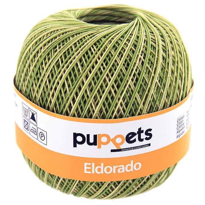 Пряжа для вязания Eldorado Multicolour, цвет: зеленый меланж, 50 г4578010 - 00082Пряжа для вязания Eldorado Multicolour состоит из мерсеризированного хлопка. Мерсеризация - обработка пряжи крепким раствором щелочи (едкого натра) под напряжением. Этот метод был разработан в первой половине XIX века английским химиком Джоном Мерсером. После такой обработки хлопковые волокна приобретают новые свойства: шелковистый блеск, мягкость, дополнительную прочность, на 25% повышается допустимое растягивающее усилие. Натуральный хлопок не имеет блеска. После мерсеризации его удается окрасить в любые яркие тона. Пряжа из хлопка является экологически чистой, так как производится из натурального материала. В настоящее время вязание плотно вошло в нашу жизнь, причем не столько в виде привычных свитеров, сколько в виде оригинальных, изящных моделей из самой разнообразной пряжи. Поэтому так важно подобрать именно ту пряжу, которая позволит вам связать даже самую сложную и необычную модель изделия.