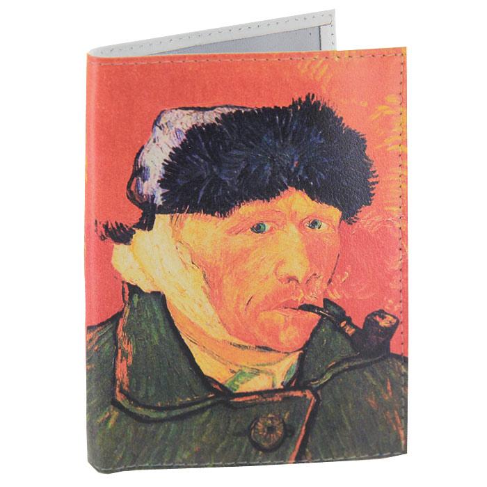 Обложка для паспорта Ван Гог портрет. OK035OK035Обложка для паспорта, выполненная из натуральной кожи, оформлена изображением знаменитого автопортрета Ван Гога. Такая обложка не только поможет сохранить внешний вид ваших документов и защитит их от повреждений, но и станет стильным аксессуаром, идеально подходящим вашему образу. Яркая и оригинальная обложка подчеркнет вашу индивидуальность и изысканный вкус. Обложка для паспорта стильного дизайна может быть достойным и оригинальным подарком.