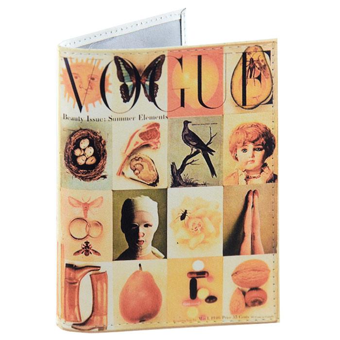 Обложка для паспорта Vogue. OK128OK128Обложка для паспорта Vogue, выполненная из натуральной кожи, оформлена оригинальными изображениями. Такая обложка не только поможет сохранить внешний вид ваших документов и защитит их от повреждений, но и станет стильным аксессуаром, идеально подходящим вашему образу. Яркая и оригинальная обложка подчеркнет вашу индивидуальность и изысканный вкус. Обложка для паспорта стильного дизайна может быть достойным и оригинальным подарком.