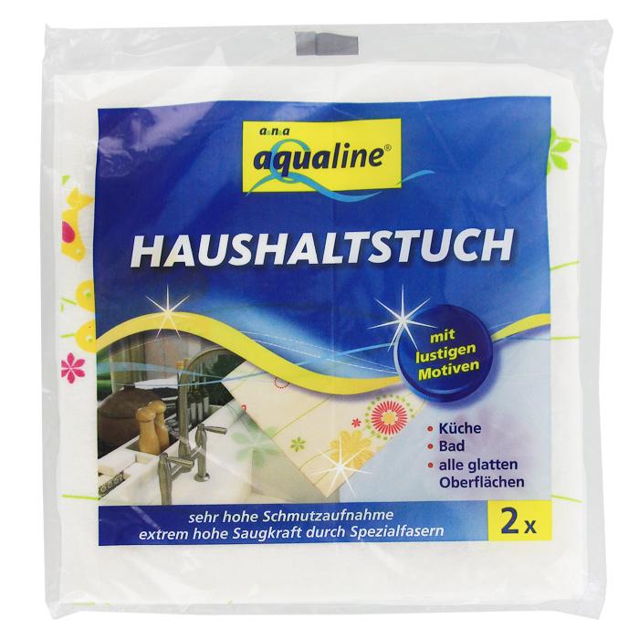 """Салфетка универсальная Aqualine """"Фан-дизайн"""", впитывающая, 38 см х 38 см, 2 шт, Aqualine / Аквалайн"""