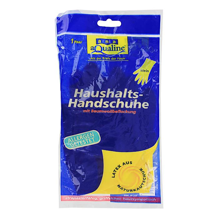 Перчатки резиновые Aqualine, легкие. Размер 7 (малый)9002Легкие резиновые перчатки Aqualine предназначены для любых видов работ в доме и саду. Они эффективно предохраняют кожу от грязи и воздействия моющих средств. Руки не потею в них благодаря внутреннему слою с флокированием из натурального хлопка. Они очень прочные, поэтому прослужат долгое время.