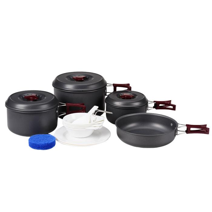Набор походной посуды KingCamp Climber 3, 17 предметов