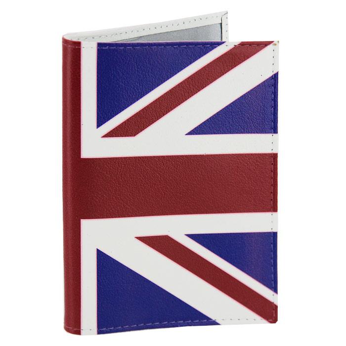 Обложка для паспорта Британский флаг. OK031OK31Обложка для паспорта, выполненная из натуральной кожи, оформлена изображением британского флага. Такая обложка не только поможет сохранить внешний вид ваших документов и защитит их от повреждений, но и станет стильным аксессуаром, идеально подходящим вашему образу. Яркая и оригинальная обложка подчеркнет вашу индивидуальность и изысканный вкус. Обложка для паспорта стильного дизайна может быть достойным и оригинальным подарком.