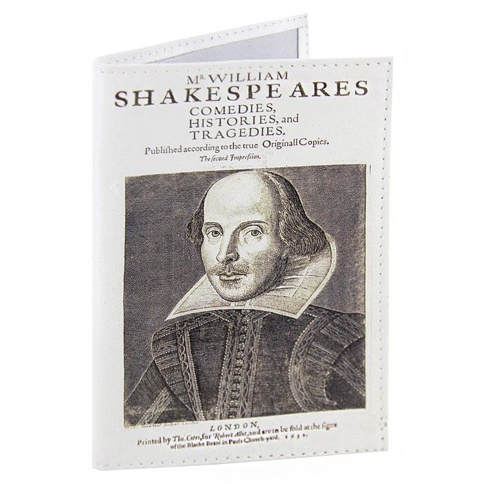 Обложка для паспорта Шекспир. OK078OK078Обложка для паспорта Шекспир, выполненная из натуральной кожи, оформлена изображением портрета Шекспира. Такая обложка не только поможет сохранить внешний вид ваших документов и защитит их от повреждений, но и станет стильным аксессуаром, идеально подходящим вашему образу. Яркая и оригинальная обложка подчеркнет вашу индивидуальность и изысканный вкус. Обложка для паспорта стильного дизайна может быть достойным и оригинальным подарком.