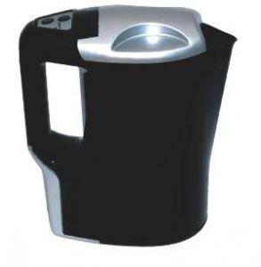 Чайник Koto, автомобильный, цвет: черный, 1 л, 12В12V-601Автомобильный чайник Koto работает от гнезда прикуривателя 12В. Чайник с удобной ручкой, с фиксируемой крышкой. Чайник выполнен из высококачественного термостойкого пластика. Нагревательный элемент из нержавеющей стали, также имеется световой индикатор включения. Чайник позволит быстро вскипятить воду и заварить свежий чай. Такой чайник может стать отличным подарком для любого автомобилиста!