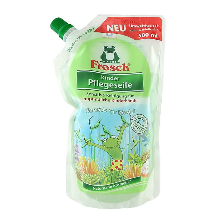 Жидкое детское мыло для рук Frosch, ухаживающее, сменная упаковка, 500 мл101599Детское мыло для рук Frosch - это мягко ухаживающее мыло, нежные увлажняющие компоненты которого специально разработаны под различные потребности чувствительной детской кожи. Ухаживающее детское мыло Frosch при каждом мытье рук защищает кожу от пересушивания. Кроме того, питательные, смягчающие компоненты сохраняют естественную защиту кожи и дают приятное ощущение мягкости. Эту нежную концепцию дополняет мягкий цветочный аромат. Мыло pH- нейтрально для кожи и проверено дерматологами. Характеристики: Объем: 500 мл. Производитель: Германия. Товар сертифицирован. Уважаемые клиенты! Обращаем ваше внимание на возможные изменения в дизайне упаковки. Качественные характеристики товара остаются неизменными. Поставка осуществляется в зависимости от наличия на складе.